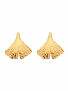 1001 Diamonds Damen Goldschmuck 585 Gold Ohrringe / Ohrstecker Ginkoblatt 1001 Diamonds gold