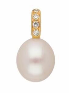 Damen Goldschmuck 585 Gold Anhänger mit Süßwasser Zuchtperle 1001 Diamonds gold