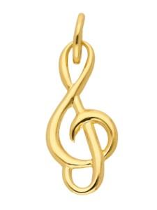 Damen Goldschmuck 585 Gold Anhänger Notenschlüssel 1001 Diamonds gold