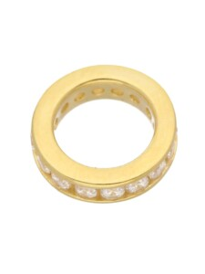 1001 Diamonds Damen Goldschmuck 585 Gold Anhänger Taufring mit Zirkonia Ø 12,4 mm 1001 Diamonds gold