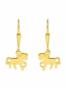 1001 Diamonds Damen Goldschmuck 585 Gold Ohrringe / Ohrhänger Pferd 1001 Diamonds gold