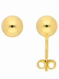 1001 Diamonds Damen Goldschmuck 585 Gold Ohrringe / Ohrstecker Ø 6 mm 1001 Diamonds gold