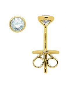 Damen Goldschmuck 585 Gold Ohrringe / Ohrstecker mit Brillant Ø 3,8 mm 1001 Diamonds gold