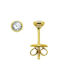Damen Goldschmuck 585 Gold Ohrringe / Ohrstecker mit Brillant Ø 3,9 mm 1001 Diamonds gold
