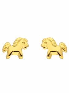 1001 Diamonds Damen Goldschmuck 585 Gold Ohrringe / Ohrstecker Pferd 1001 Diamonds gold