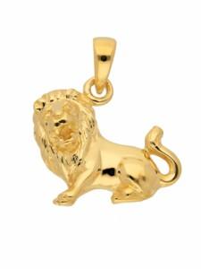1001 Diamonds Damen & Herren Goldschmuck 585 Gold Sternzeichen Anhänger Löwe 1001 Diamonds gold