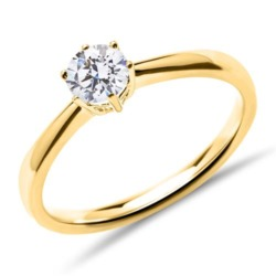 14K Gold Verlobungsring mit lab-grown Brillant