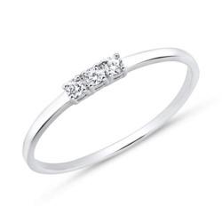 14K Weißgold Ring für Damen mit Brillanten
