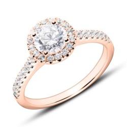 18K Roségold Verlobungsring mit Brillanten