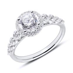 18K Weißgold Verlobungsring mit Brillanten