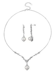 2tlg. Schmuck-Set in Silber 925 Diemer Highlights Weiß