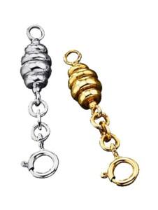 2tlg. Set Verlängerungskettchen Diemer Silber Gelbgoldfarben::Silberfarben