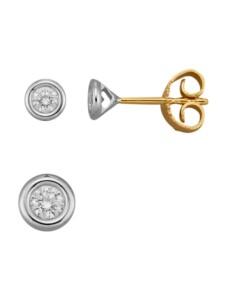 2tlg.Schmuck-Set Diemer Diamant Weißgoldfarben