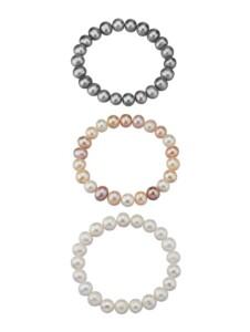 3tlg. Armband Diemer Perle Multicolor