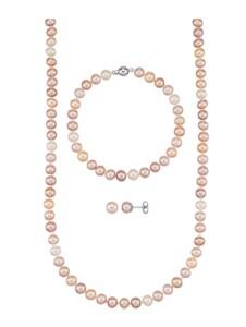 3tlg. Schmuck-Set Diemer Perle Multicolor