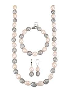 3tlg. Schmuck-Set Diemer Perle Weiß