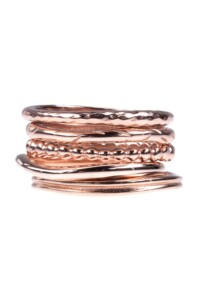 5 IN 1 Stacking Ring Set rosé vergoldet