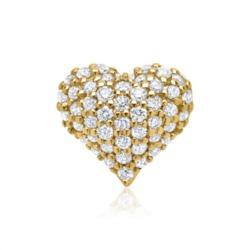 585er Gelbgold-Anhänger Herz 48 Diamanten