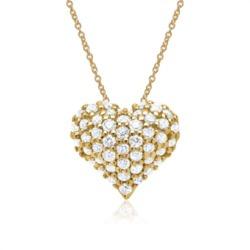 585er Gelbgold-Kette 48 Diamanten 0,28 ct.