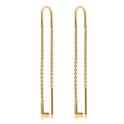 585er Gold Ohrhänger mit Buchstaben