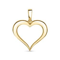 585er Goldanhänger Herz für Damen
