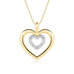 585er Goldkette Herzen mit Diamanten