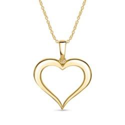 585er Goldkette mit Herzanhänger für Damen