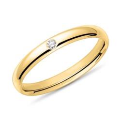 585er Goldring für Damen mit Diamant