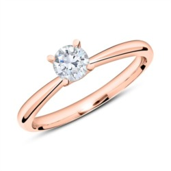 585er Roségold Ring mit Diamant 0,50 ct.
