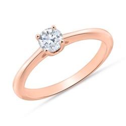 585er Roségold Ring mit Diamant