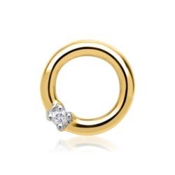 585er runder Gelbgold-Anhänger Diamant