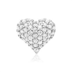 585er Weißgold-Anhänger 48 Diamanten