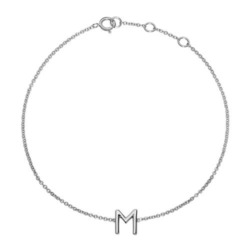 585er Weißgold Armband mit Buchstabe oder Symbol