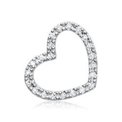 585er Weißgold-Ketten-Anhänger 22 Diamanten