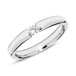 585er Weißgold Verlobungsring mit Diamant 0,10 ct.