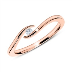 750er Roségold Ring mit Diamant 0,05 ct.