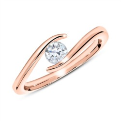 750er Roségold Ring mit Diamant 0,25 ct.