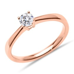 750er Roségold Verlobungsring mit lab-grown Diamant