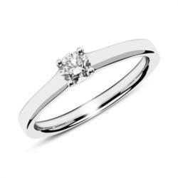 750er Weißgold Verlobungsring mit Diamant 0,25 ct.