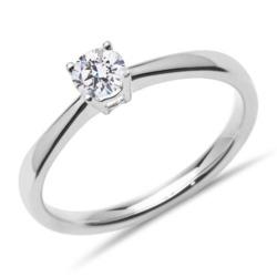 750er Weißgold Verlobungsring mit Diamant, 0,25 ct.