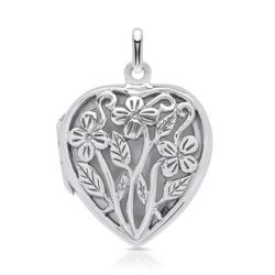 925 Silber Herz Medaillon