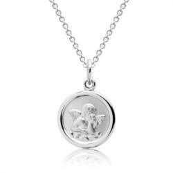925 Silberkette für Kinder mit Engelsmuster