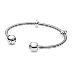 925er Silber Armreif Snake Chain für Damen