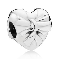 925er Silber Bead Brilliant Heart Bow