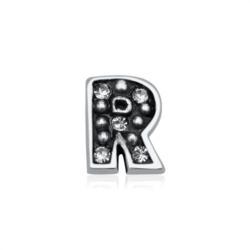 925er Silber Buchstaben Charm R mit Zirkonia