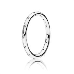 925er silber Ring mit Zirkonia