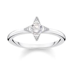 925er Silberring Weiße Steine für Damen mit Zirkonia