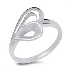 925er Sterling Silberring im Herzdesign