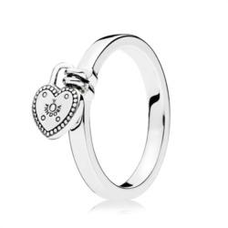 925er Sterlingsilber Ring Herzanhänger
