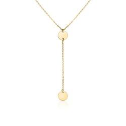 9K Goldkette für Damen in Y-Optik, gravierbar